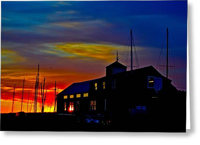 Dawn At The Boatbuilder  Greeting Card by Jeffrey Canha