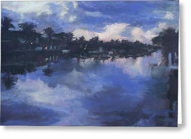 Dock Pastels Greeting Cards - Dawn At The Dock Greeting Card by Patricia Maguire