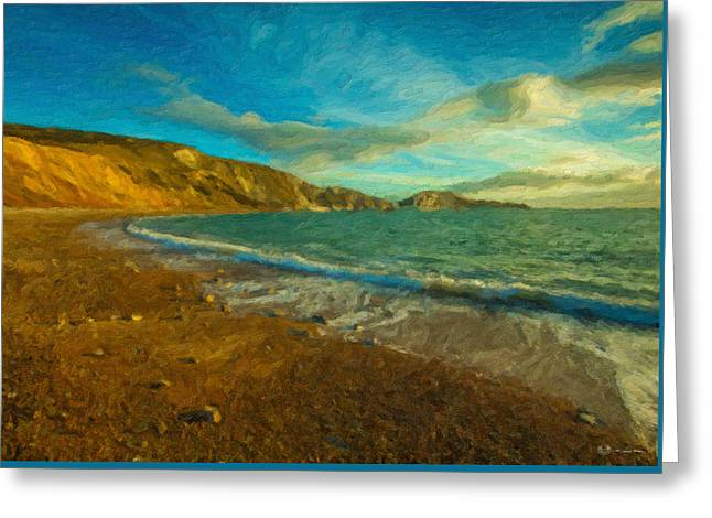 Ultra Modern Greeting Cards - Dawn at Turquoise Lagoon Greeting Card by Serge Averbukh