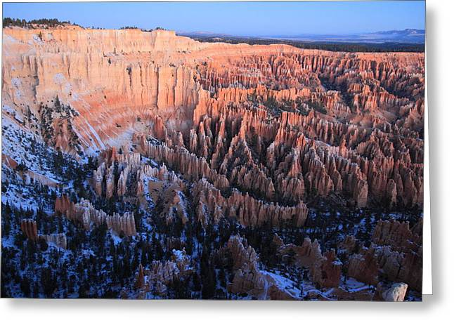 Dawn In Bryce Canyon Greeting Card by Pierre Leclerc Photography
