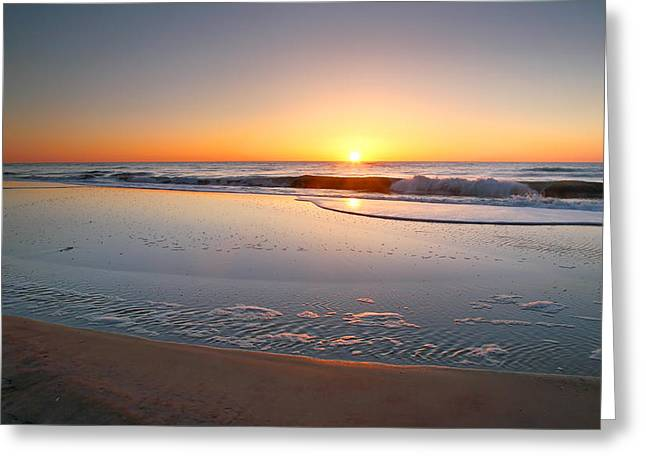 Ocean Prints Photographs Greeting Cards - Dawn Is Breaking II Greeting Card by Steven Ainsworth