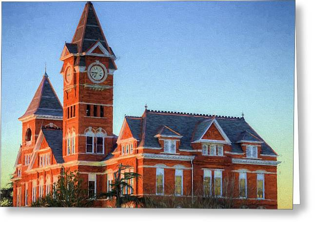 Dawn Light On Samford Hall Greeting Card by JC Findley