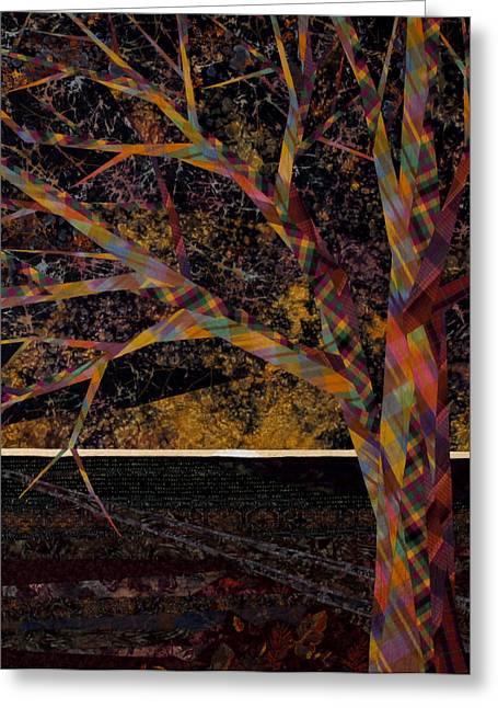 Dark Skies Tapestries - Textiles Greeting Cards - Dawn Greeting Card by Linda Beach