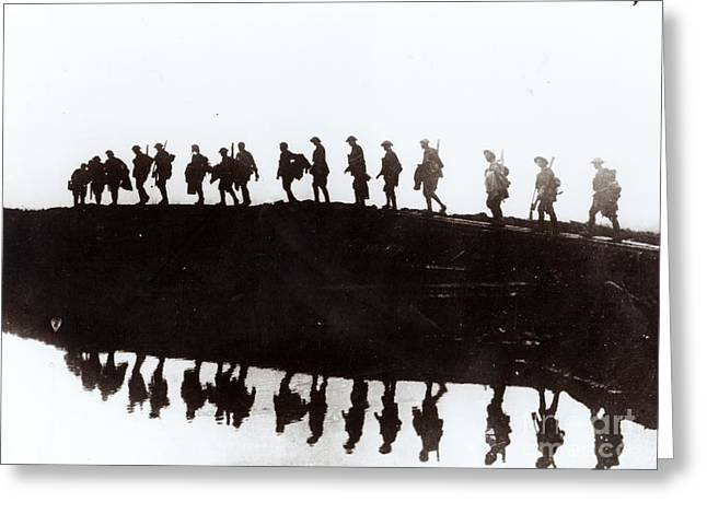 Troops Photographs Greeting Cards - Dawn March Greeting Card by Private Collection