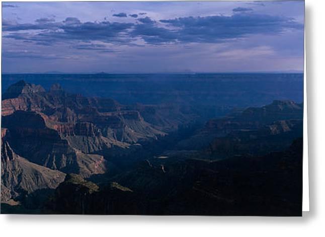 North Rim Greeting Cards - Dawn North Rim Grand Canyon National Greeting Card by Panoramic Images