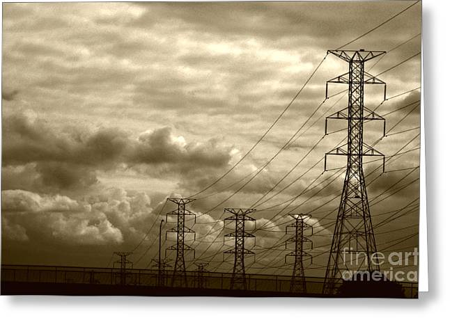 Bruster Greeting Cards - Dawn of Industrialization Greeting Card by Clayton Bruster