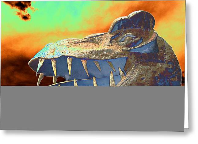 Trex Greeting Cards - Dawn of Really Old Greeting Card by Richard Henne