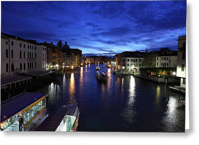 Vaporetto Greeting Cards - Dawn on the Grand Canal Greeting Card by Paul Cowan