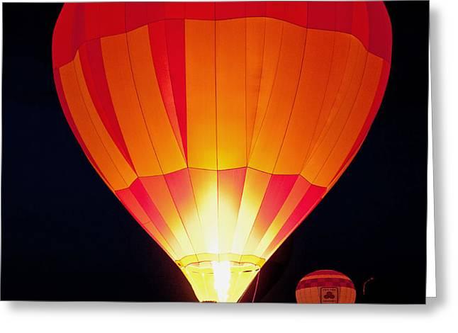 Dawn Patrol Balloon Fiesta Greeting Card by Jim Chamberlain