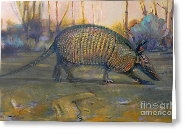 Rodents Greeting Cards - Dawn Run Greeting Card by Donald Maier