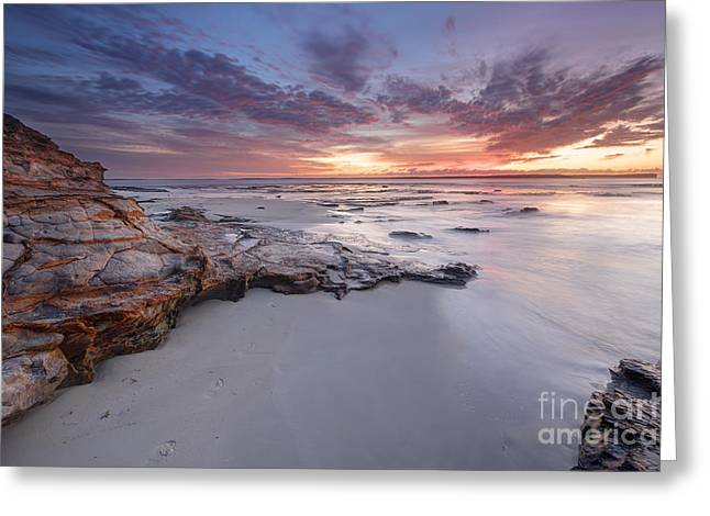 Jervis Greeting Cards - Dawn skies at Plantation Point Jervis Bay Australia Greeting Card by Leah-Anne Thompson