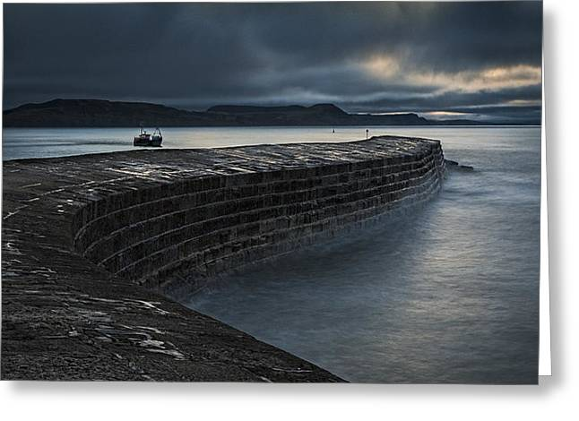 Breakwater Greeting Cards - Dawn, The Cobb Greeting Card by Stuart Crump