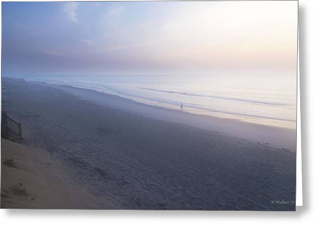 Foggy Ocean Greeting Cards - Dawning Greeting Card by Brian Wallace