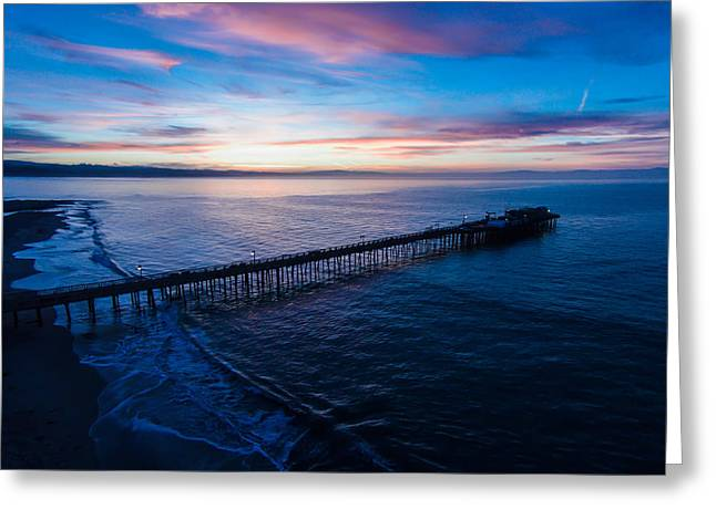 Santa Cruz Wharf Photographs Greeting Cards - Dawning of a New Day Greeting Card by David Levy