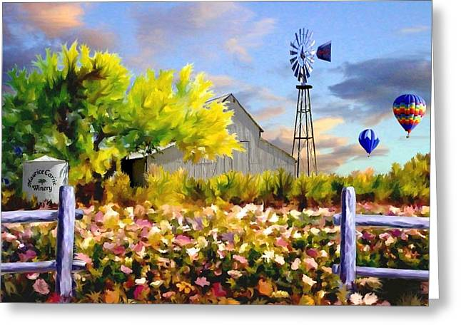 Balloon Flower Paintings Greeting Cards - Dawns First Light Greeting Card by Ronald Chambers