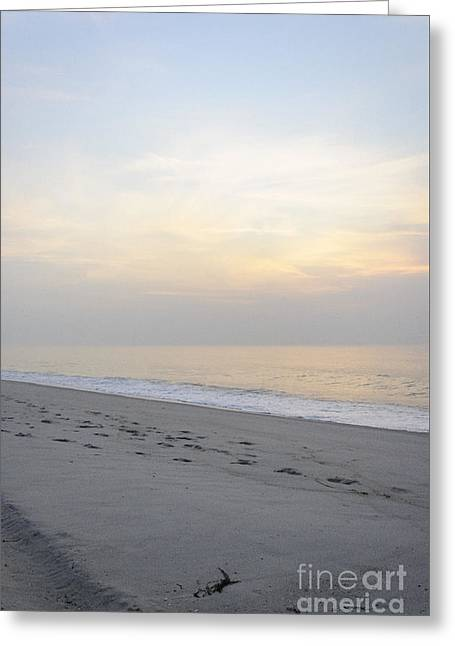 Overcast Day Greeting Cards - Dawns Pastel Painted Skies Greeting Card by Debra Fedchin