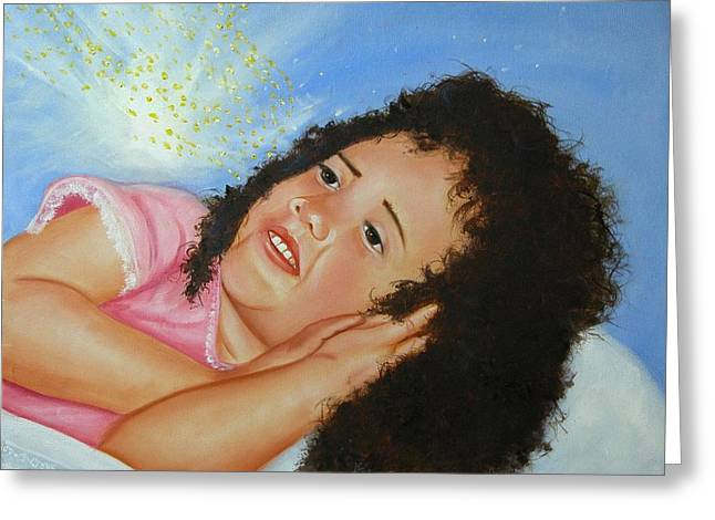 Girls Greeting Cards - Day Dreamer Greeting Card by Joni McPherson