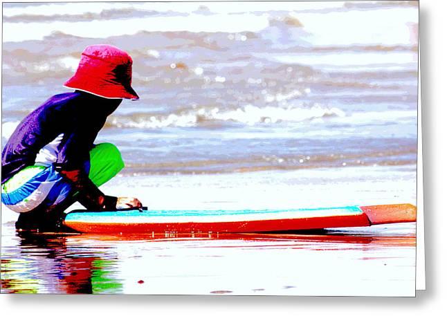 Surf City Greeting Cards - Day in Huntington Beach Greeting Card by Carol Mallillin-Tsiatsios