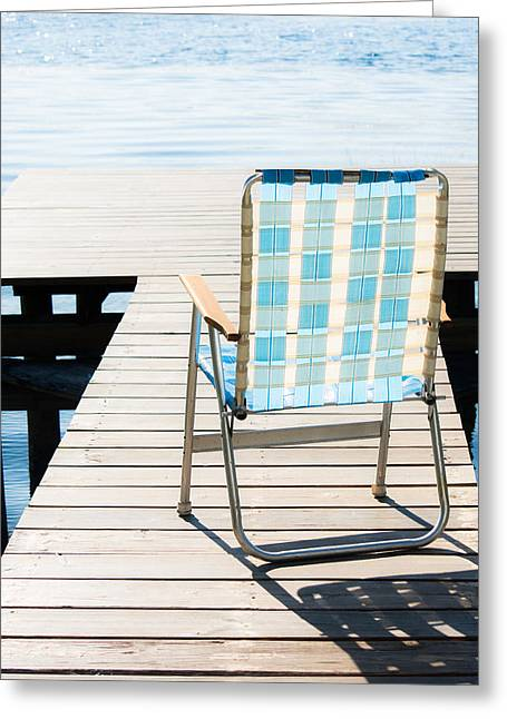 Lawn Chair Greeting Cards - Day in Paradise Greeting Card by Parker Cunningham