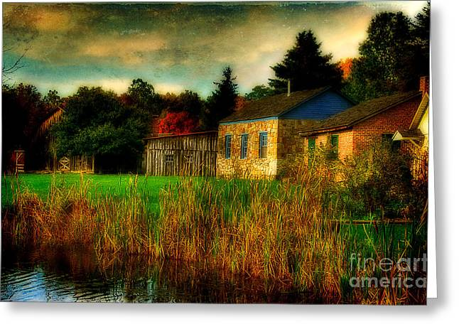 Stone House Digital Greeting Cards - Day Is Done Greeting Card by Lois Bryan