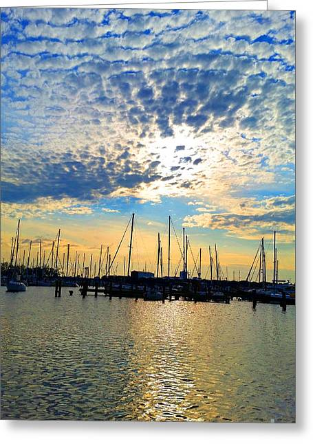 Masts Greeting Cards - Day is Done Greeting Card by Roberta Byram
