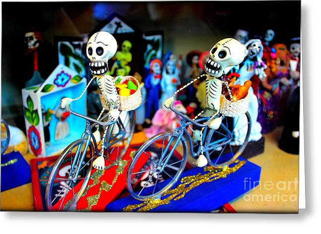 Day Of The Dead Greeting Card by Jenny Revitz Soper