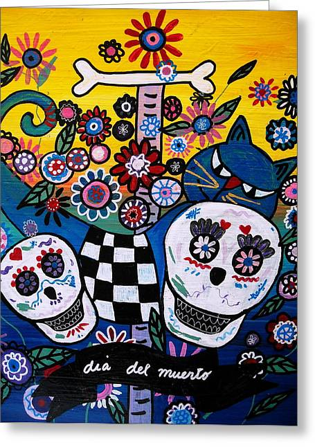 Sementeryo Greeting Cards - Day Of The Dead Greeting Card by Pristine Cartera Turkus