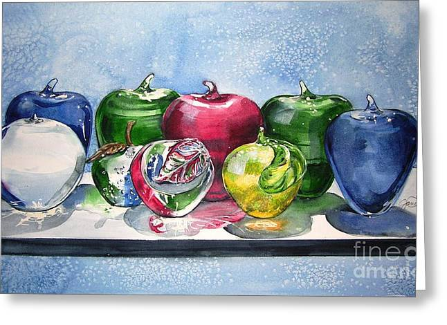 Paperweight Greeting Cards - Day of the Teacher No 1 Greeting Card by Jane Loveall