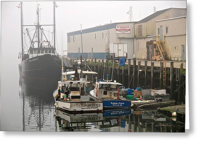 Maine Waterfront Greeting Cards - Day Off Greeting Card by Bob Orsillo