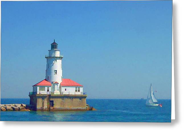 Lyle Hatch Greeting Cards - Day on the Lake Greeting Card by Lyle Hatch