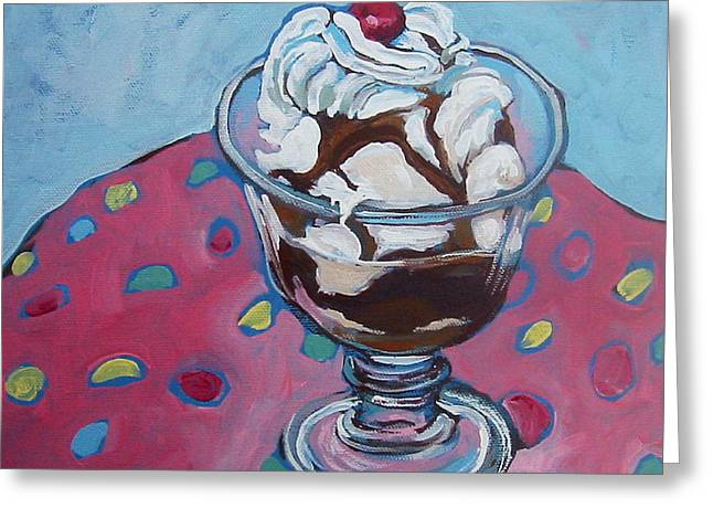 Day Two Sundae Greeting Card by Tilly Strauss