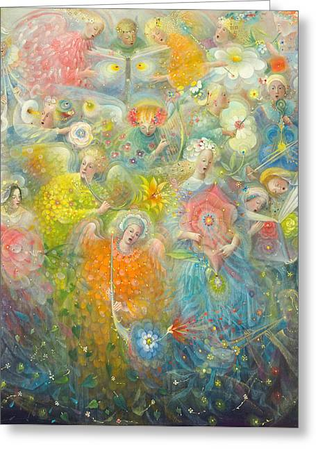Daydream Paintings Greeting Cards - Daydream after the music of Max Reger Greeting Card by Annael Anelia Pavlova
