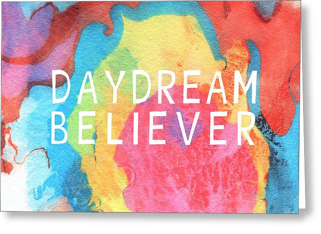 Daydream Greeting Cards - Daydream Believer- Abstract art by Linda Woods Greeting Card by Linda Woods