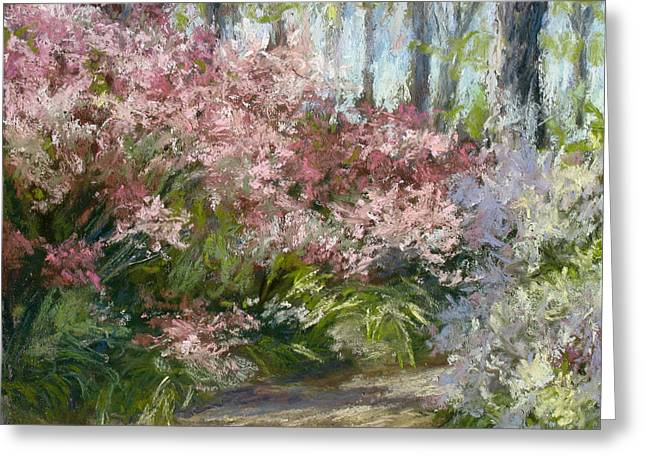 Garden Scene Pastels Greeting Cards - Daydream Greeting Card by L Diane Johnson