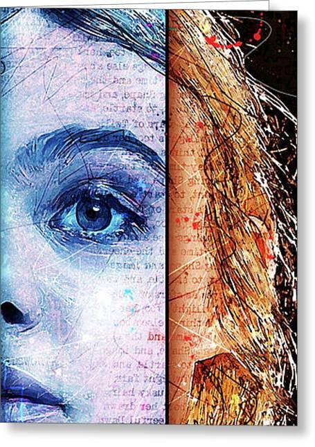 Daydream Panel 2 Greeting Card by Gary Bodnar