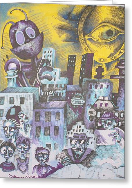 Daydream Drawings Greeting Cards - Daydreaming Greeting Card by Beka Burns