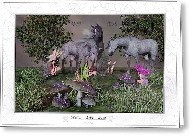 Daydreaming Dreamers Greeting Card by Betsy Knapp