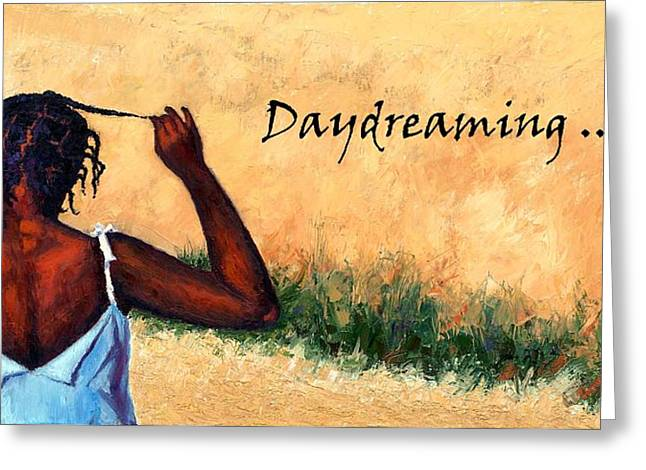 Janet King Greeting Cards - Daydreaming in Haiti Greeting Card by Janet King
