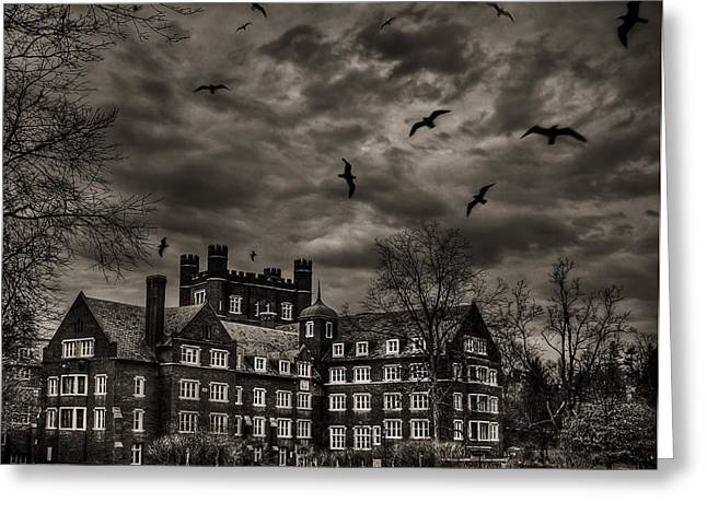 Ithaca Greeting Cards - Daydreams Darken Into Nightmares Greeting Card by Evelina Kremsdorf