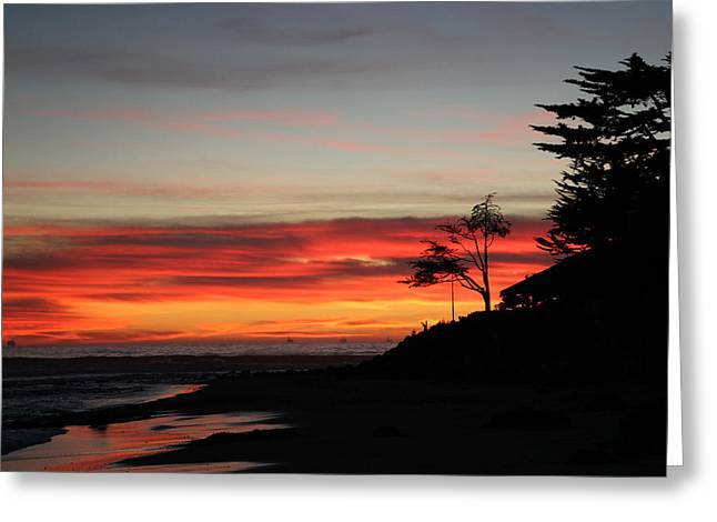Rincon Greeting Cards - Days End at Rincon Greeting Card by Michael Cobb