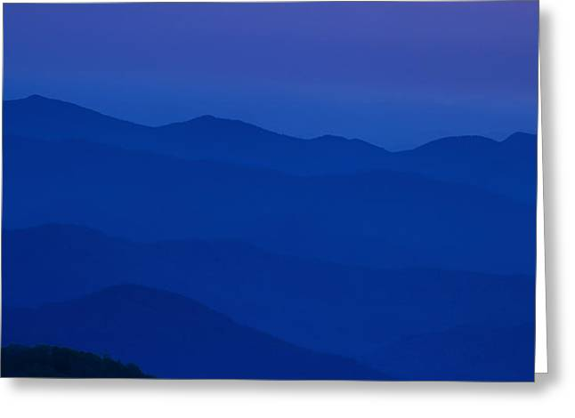 Day's End at the Blue Ridge Greeting Card by Andrew Soundarajan
