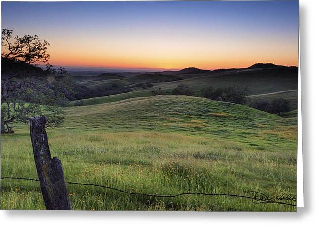 Pea Ridge Greeting Cards - Days End Greeting Card by Doug Holck