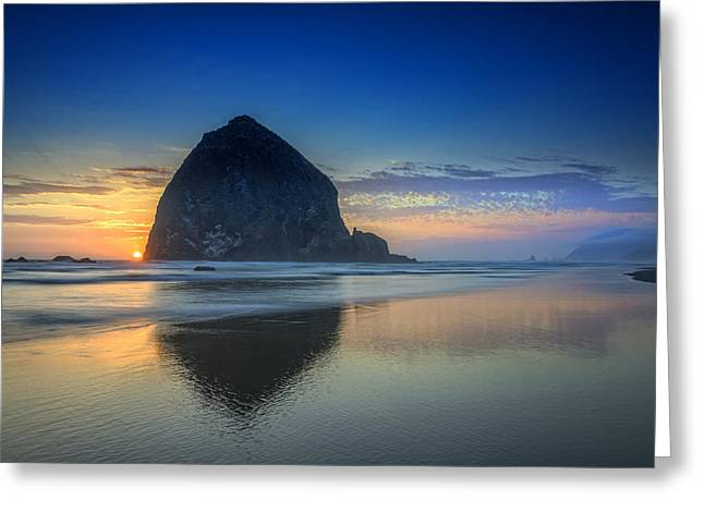 Beach Landscape Greeting Cards - Days End in Cannon Beach Greeting Card by Rick Berk