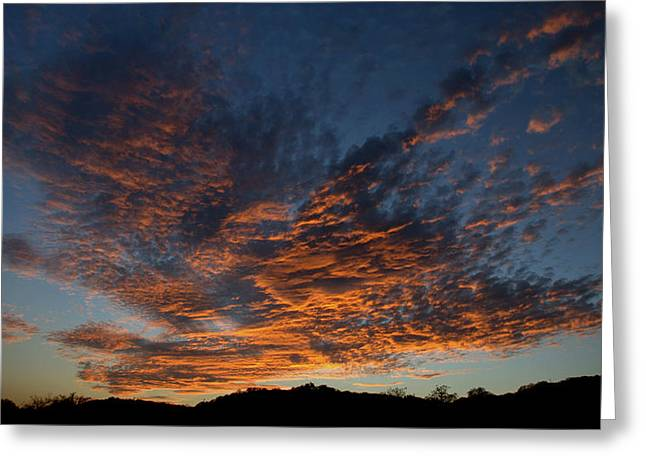 Day's Glorious Ending Greeting Card by Karen Musick