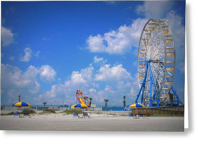 Daytona Greeting Cards - Daytona Beach Boardwalk Greeting Card by Mandy Shupp