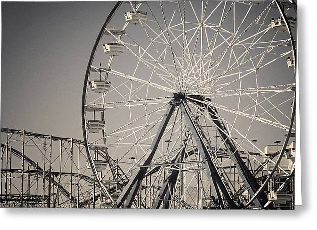 Ferris Wheel Greeting Cards - Daytona Beach Ferris Wheel Greeting Card by Joan Carroll
