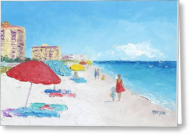 California Beach Art Greeting Cards - Daytona Beach Greeting Card by Jan Matson