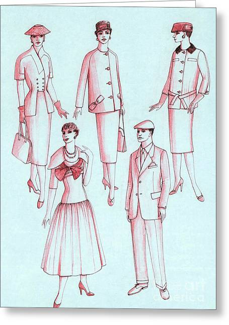 Apparel Greeting Cards - Daywear, 1956 Greeting Card by Science Source