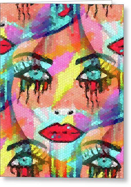 Creative People Mixed Media Greeting Cards - Dazzle Them Greeting Card by Kathleen Sartoris
