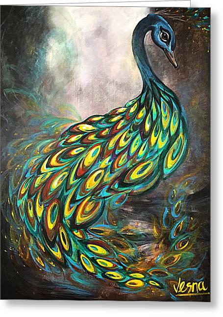Swans... Greeting Cards - Dazzling Greeting Card by Vesna Delevska